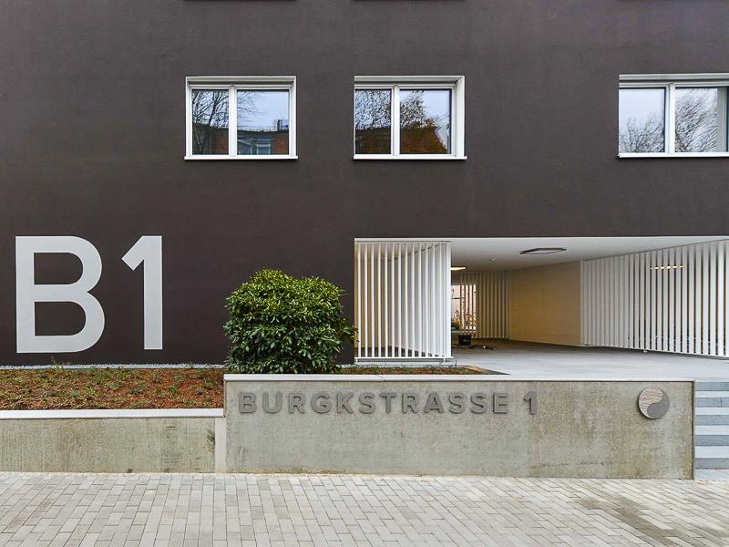 Burgkstraße 1 in Dresden – eine Nahaufnahme der Front