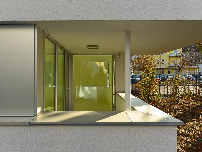 Burgkstraße 1 in Dresden – Blick auf den Balkon einer Erdgeschosswohnung