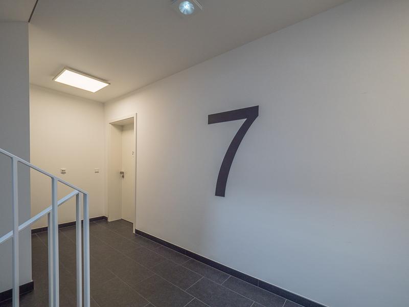 Gret-Palucca-Straße 7 Dresden – Treppenhaus in der siebten Etage des Neubaus