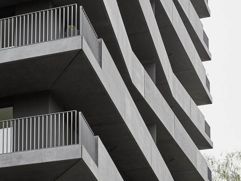 Gret-Palucca-Straße 7 Dresden – frontale Detailaufnahme der Ecke